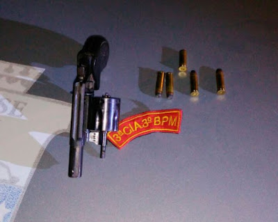 Polícia prende acusado de tentativa de estupro e apreende arma de fogo em Aparecida
