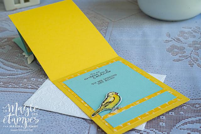 carte à pliage original avec Libre comme un oiseau Stampin' Up!