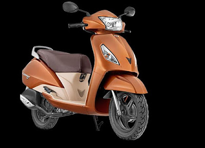 TVS Jupiter orange scooter 110cc