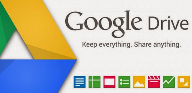 Google Drive Keep Everything. Share anything Header