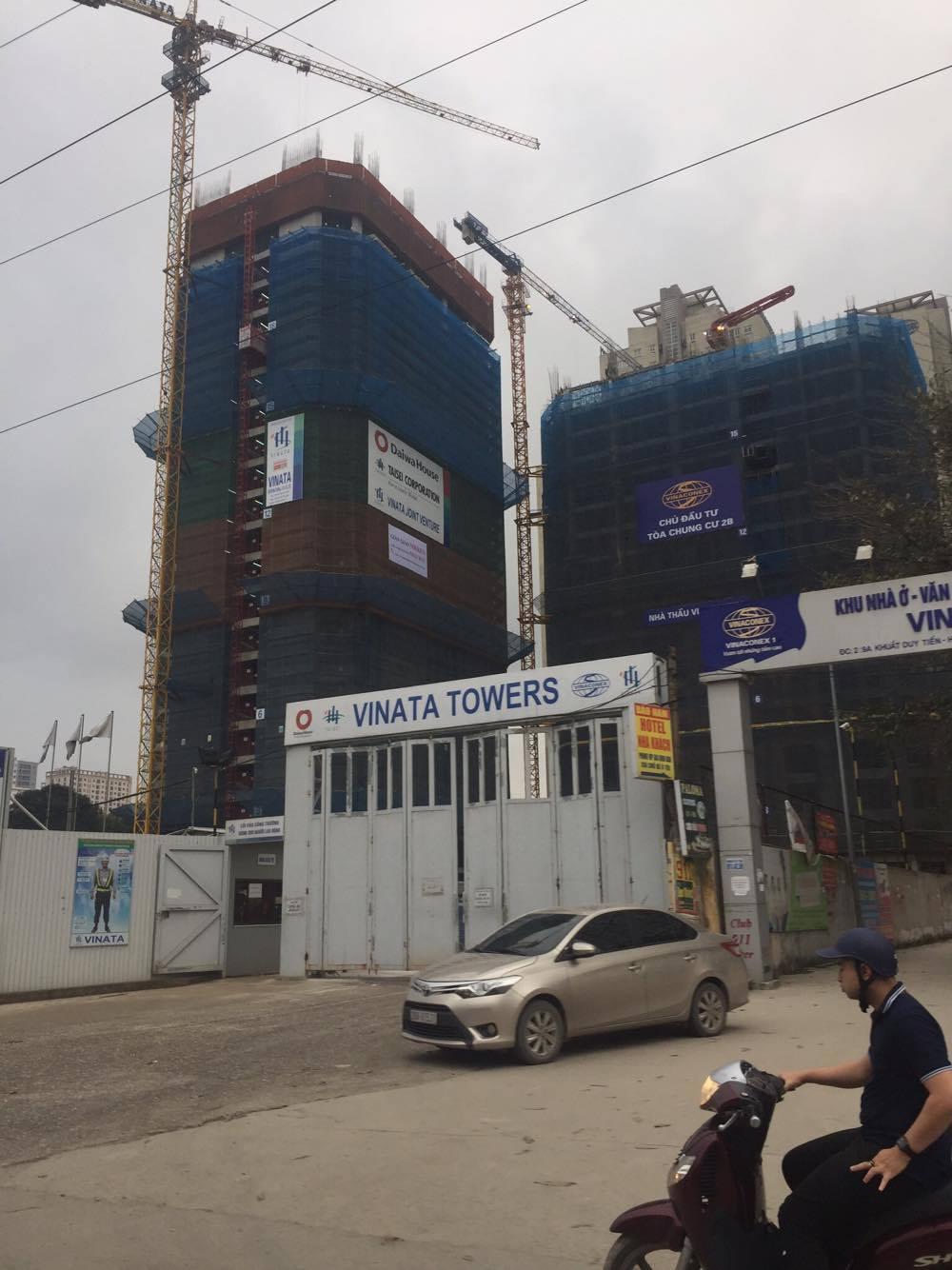 Tiến độ chung cư Vinata Towers đã lên tới tầng 18