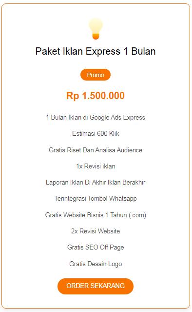 Jasa Iklan Google Ads Express