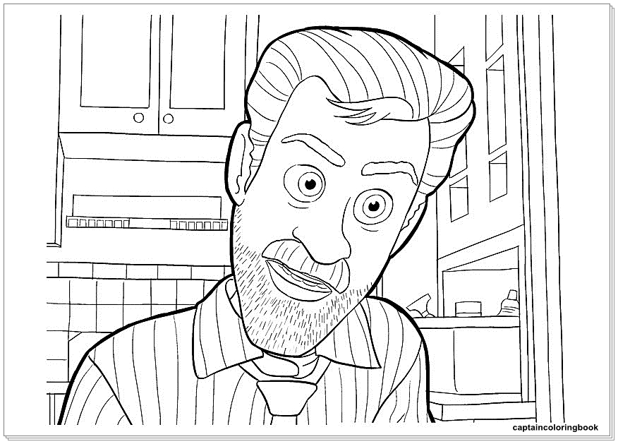 Inside Out Coloring Pages Fritz Fear Bing Bong Joy Disgust Riley Andersen Sadness Anger