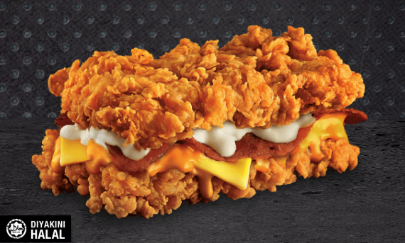 Harga KFC Zinger Double Down 2017