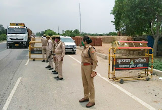 Suspected person on Kanpur-Auraiya border, SP has taken it