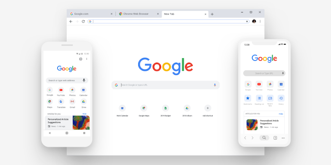 Google Chrome updated (69) for Android and iOS with new look and notch support