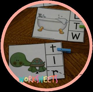 beginning sounds clip cards