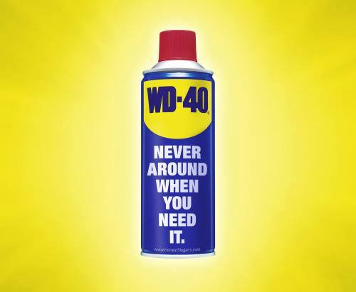 WD-40 - Never around when you need it.