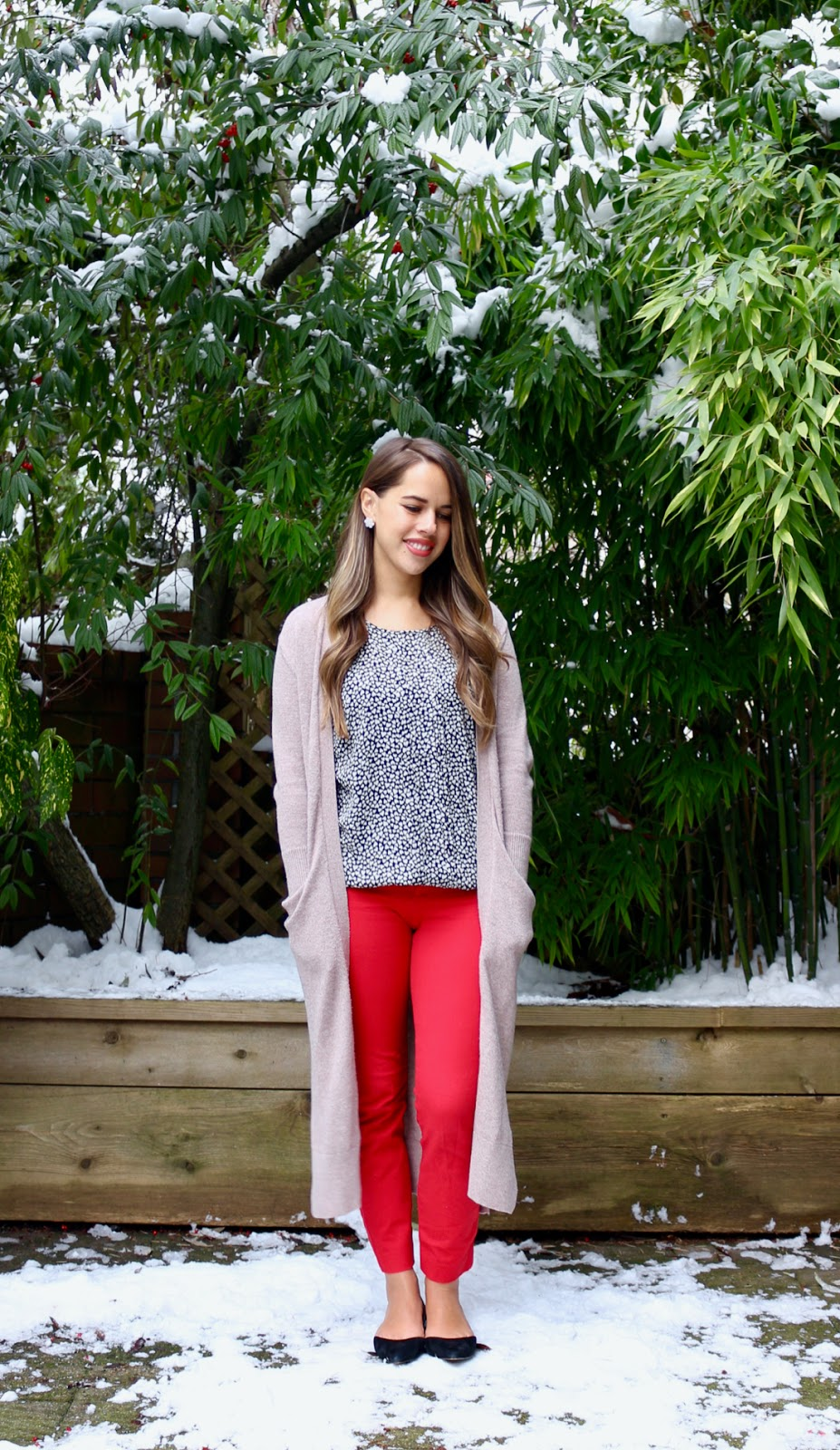Jules in Flats - Valentine's Day Outfit (Business Casual Winter Workwear on a Budget)