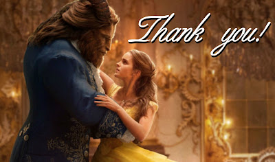 free printable Beauty and the Beast thank you cards