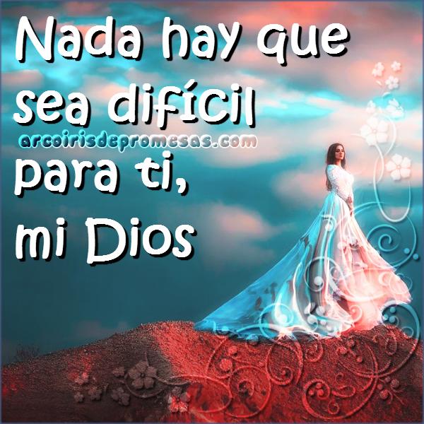 reflexión Dios que todo lo puede