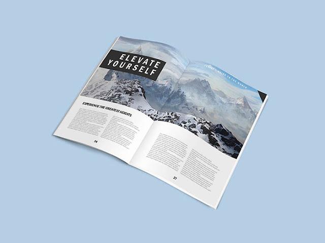 5 Magazine Mockups PSD