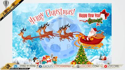 Phông nền giáng sinh - Merry Christmas mát lạnh