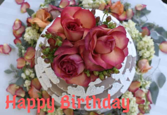 Images of happy birthday with flowers