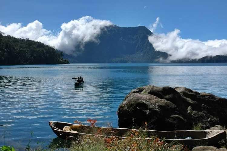 Gambar jejak rute lokasi ke wisata danau gunung tujuh, kota kerinci, provinsi jambi