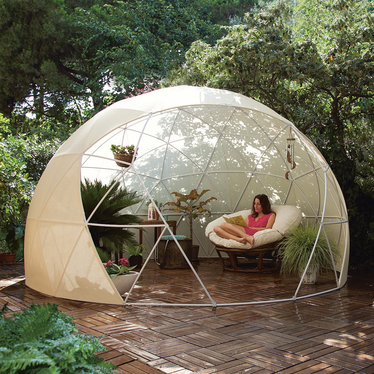 The unique Garden Igloo is a multi-purpose portable dome shaped structure that can transform your outside area and can be used as a stylish conservatory ... & Garden Igloo Dome u0026 Canopy Cover - FanShoppingTherapy