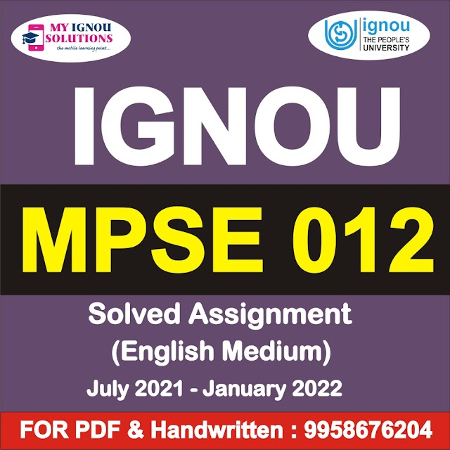 MPSE 012 Solved Assignment 2021-22