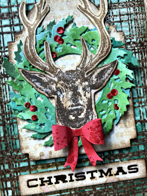 Sara Emily Barker https://sarascloset1.blogspot.com/2020/07/christmas-all-ready.html Rustic Christmas Card Tutorial #timholtz #yuletide #wreath&snowflake #lumberjack 8