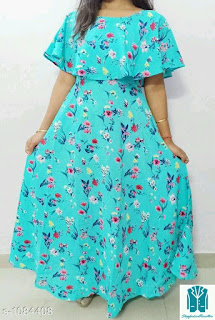 stylish american crepe printed dress