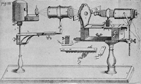 Kircher's Compound Microscope Adapted with Coarse and Fine Adjustment and Substage Condenser