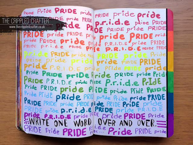 Pride LGBT Art Journal Page | LGBT+ | LGBTQ | Wreck This Journal