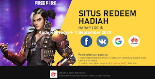 Kode Redeem FF 1 September 2020