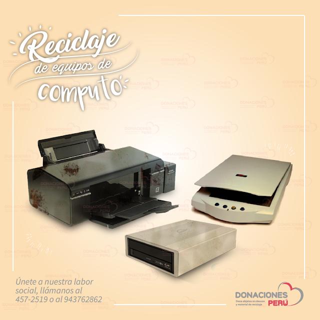 Reciclaje de equipos de computo - donacion de equipos de computo  - equipos de computo