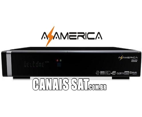 Azamerica S922 em Tocomsat Duo HD + Atualização Modificada 61w ON - 02/11/2020