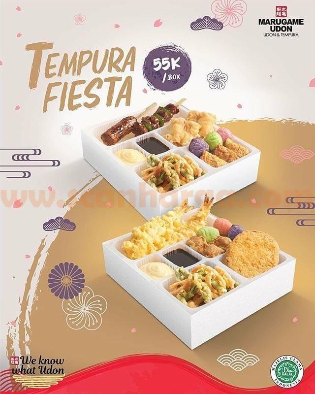 Promo Marugame Udon Harga Spesial Tempura Fiesta Rp 55Rb!
