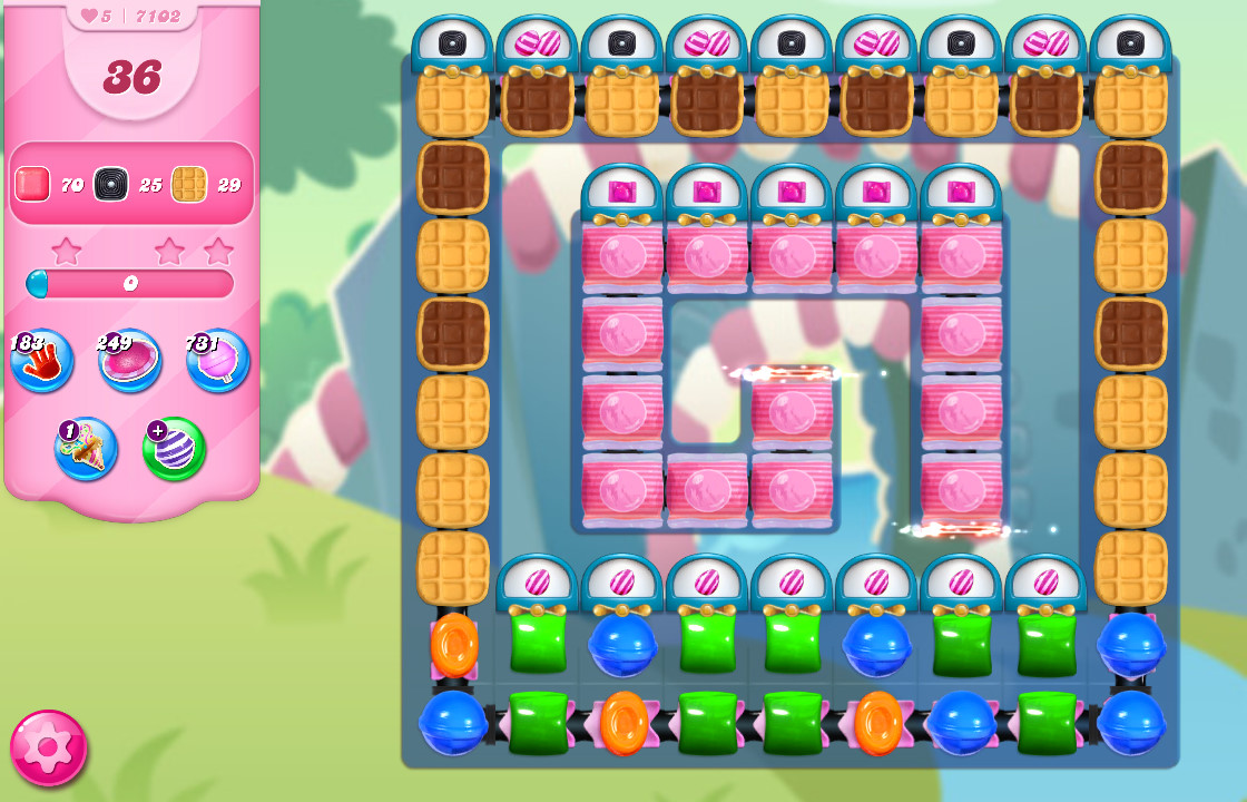Candy Crush Saga level 7102