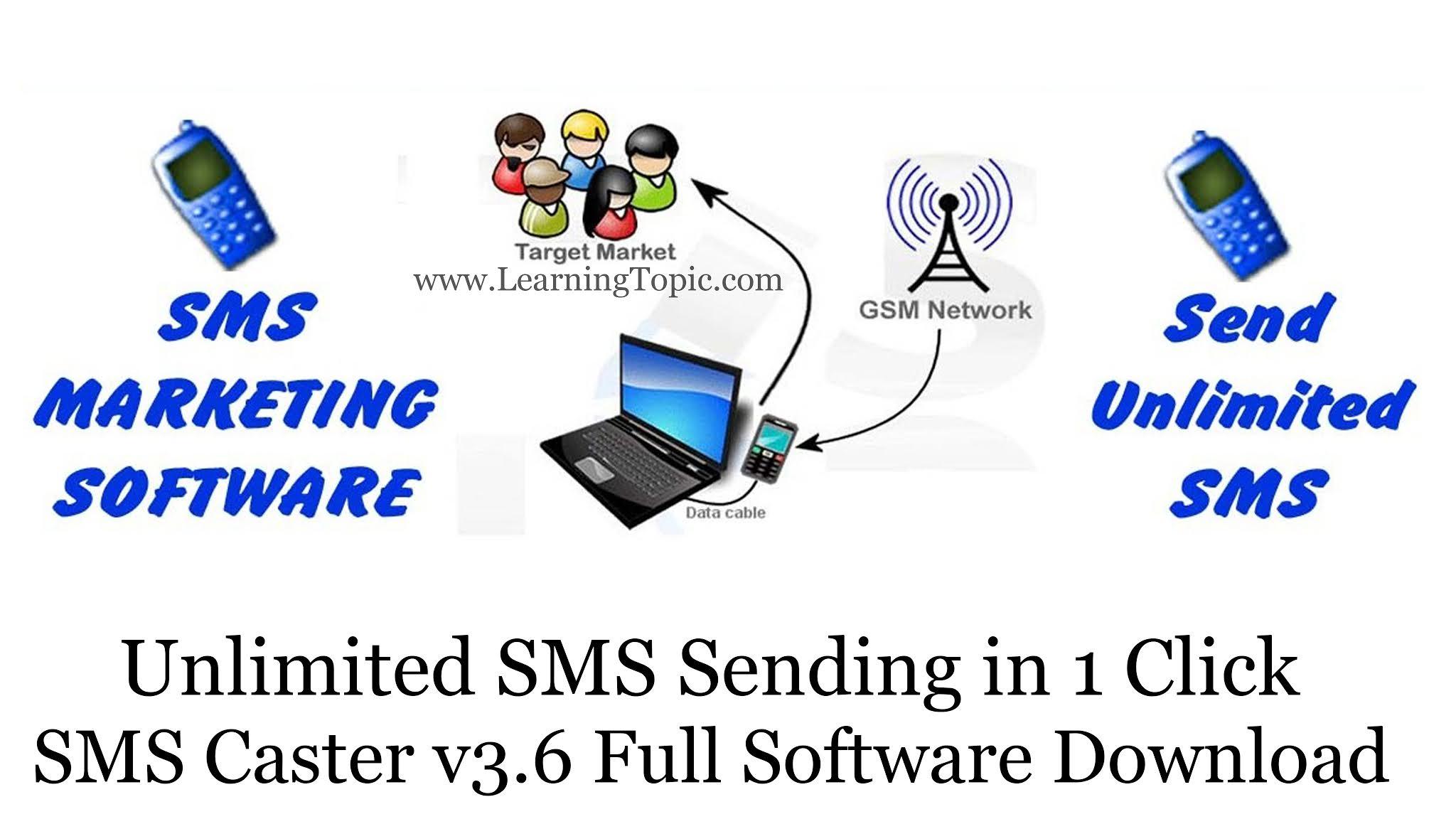 SMS Caster v3.6 Full Software Download || SMS Marketing Software || Unlimited SMS Sending in 1 Click