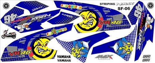 stiker striping motor yamaha nmax