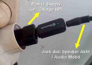 cara pasang bluetooth receiver audio