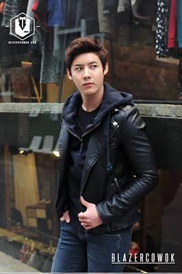 blazer cowok blazercowok.com jaket korean jas pria sk44 black b
