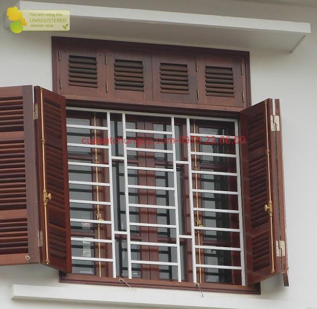 Khung cửa sổ an toàn, gọn gàng đẹp