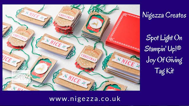 Nigezza Creates Spotlight on Stampin' Up! Joy of Giving Tag Kit