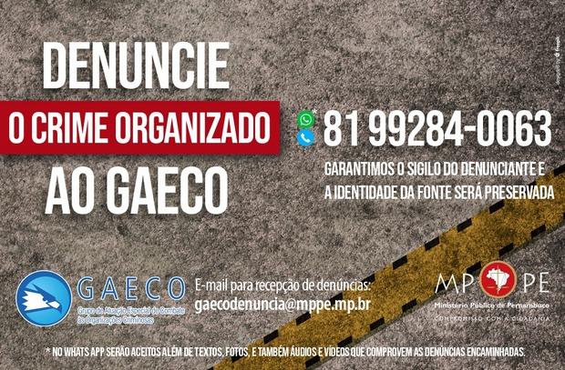MPPE lança disque-denúncia contra o crime organizado