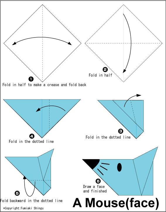 මීයෙකුගේ මුහුණ හදමු (Origami Mouse(Face)) - Your Choice Way
