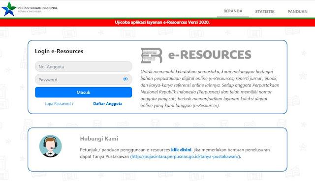 Akses dan penelusuran e-resources perpusnas
