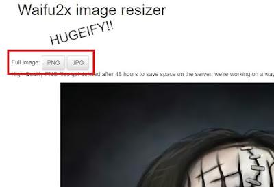 Jika sudah, Sobat bisa langsung pilih jenis format gambarnya. (Contoh JPG)