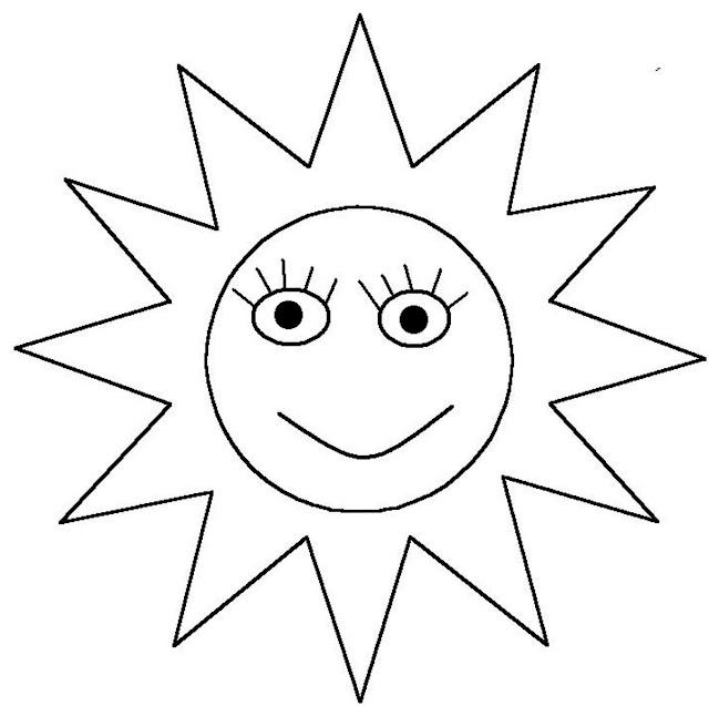 صورة شمس للتلوين