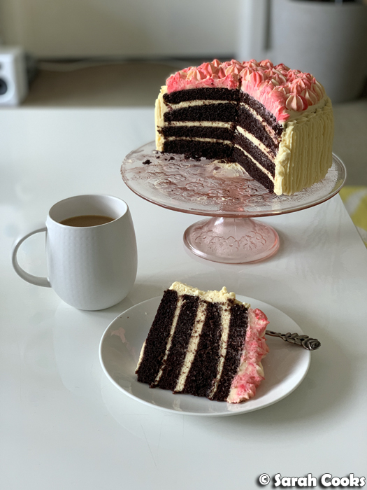 Chocolate Devil's Food Cake with Cream Cheese Frosting