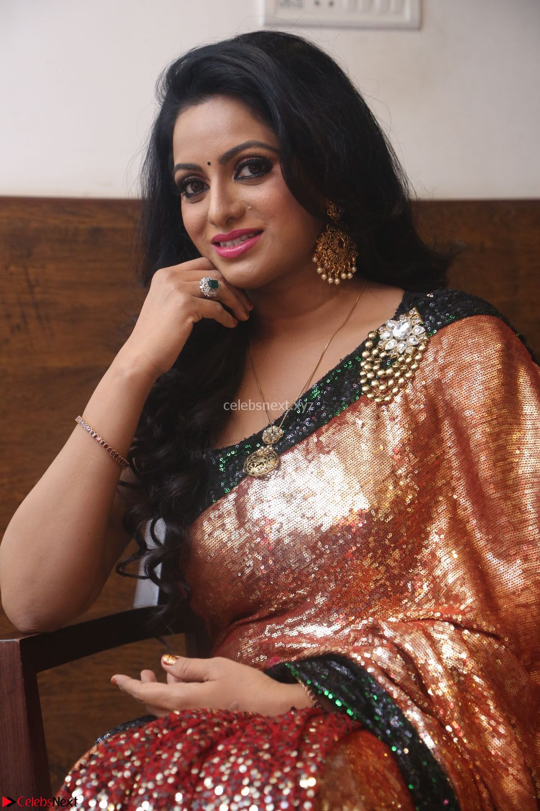 Udaya Bhanu looks sizzling in a Saree Choli at Gautam Nanda music launchi ~ Exclusive Celebrities Galleries