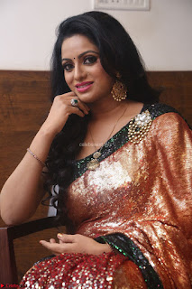 Udaya Bhanu lookssizzling in a Saree Choli at Gautam Nanda music launchi ~ Exclusive Celebrities Galleries 034.JPG