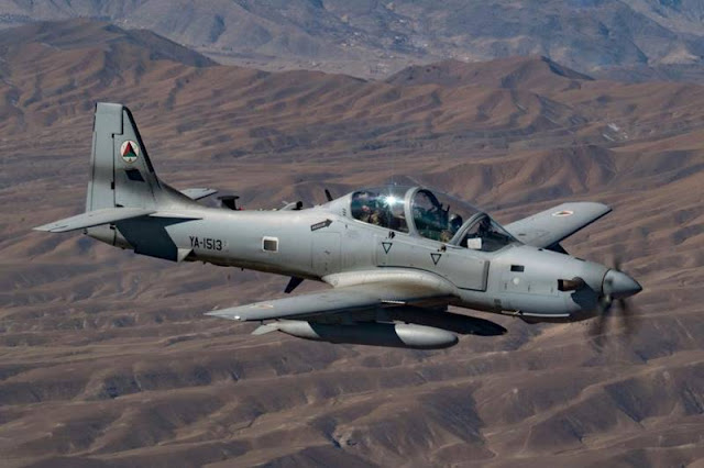 USAF pilot ejects from Afghan Air Force A-29 Super Tucano