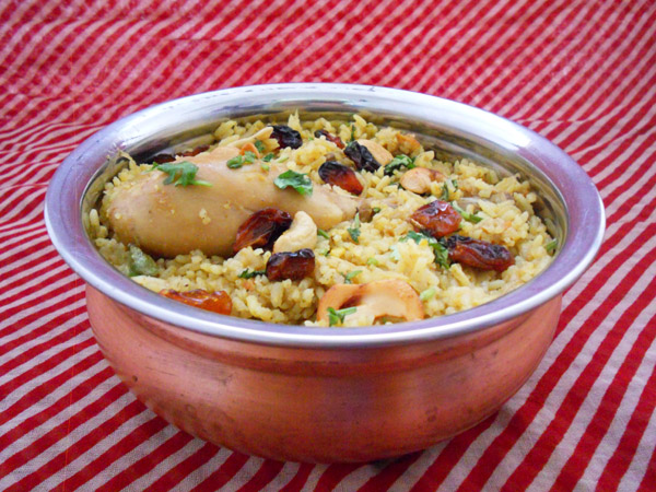 chicken biriyani in pressure cooker
