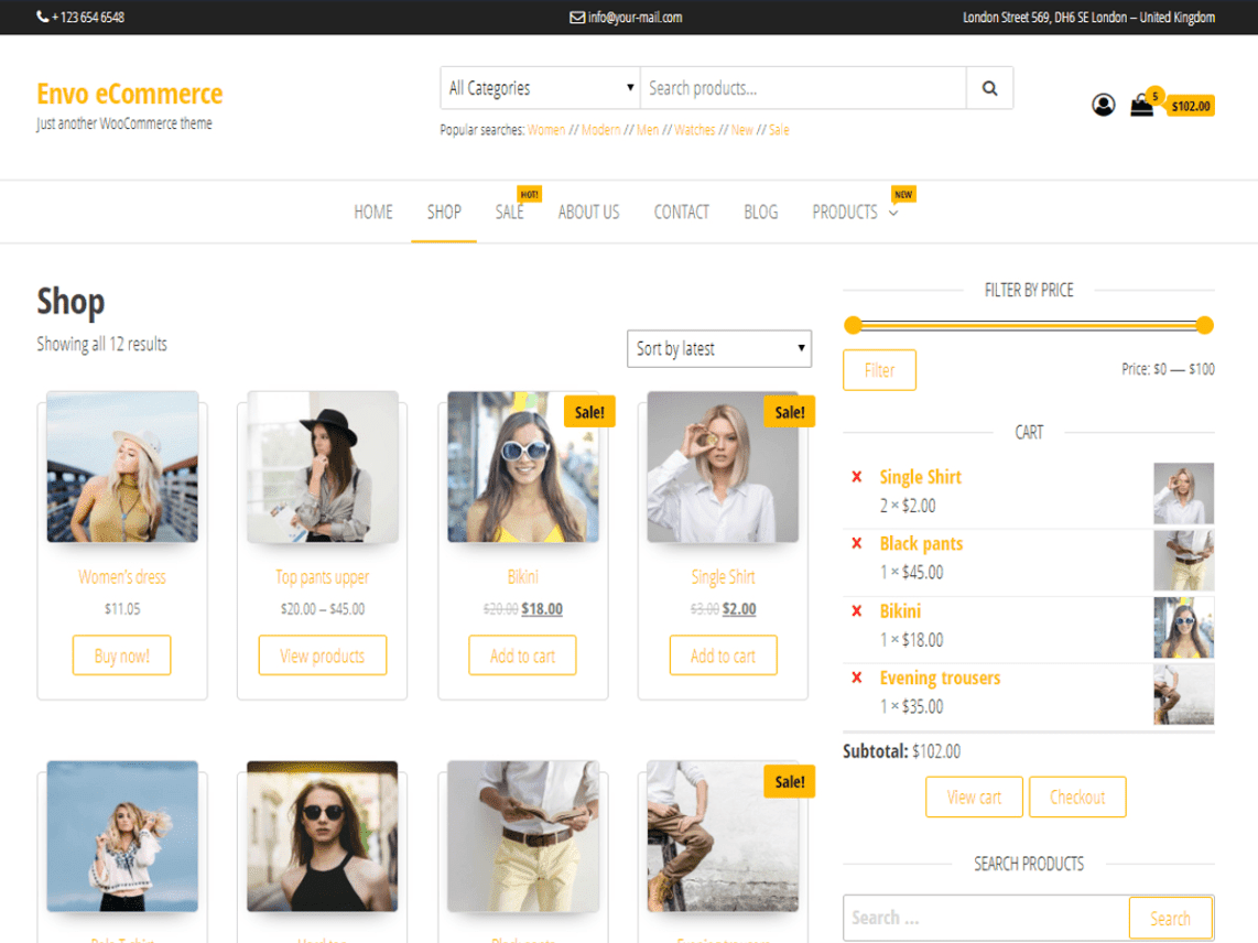 Best WordPress eCommerce Themes For Online Stores
