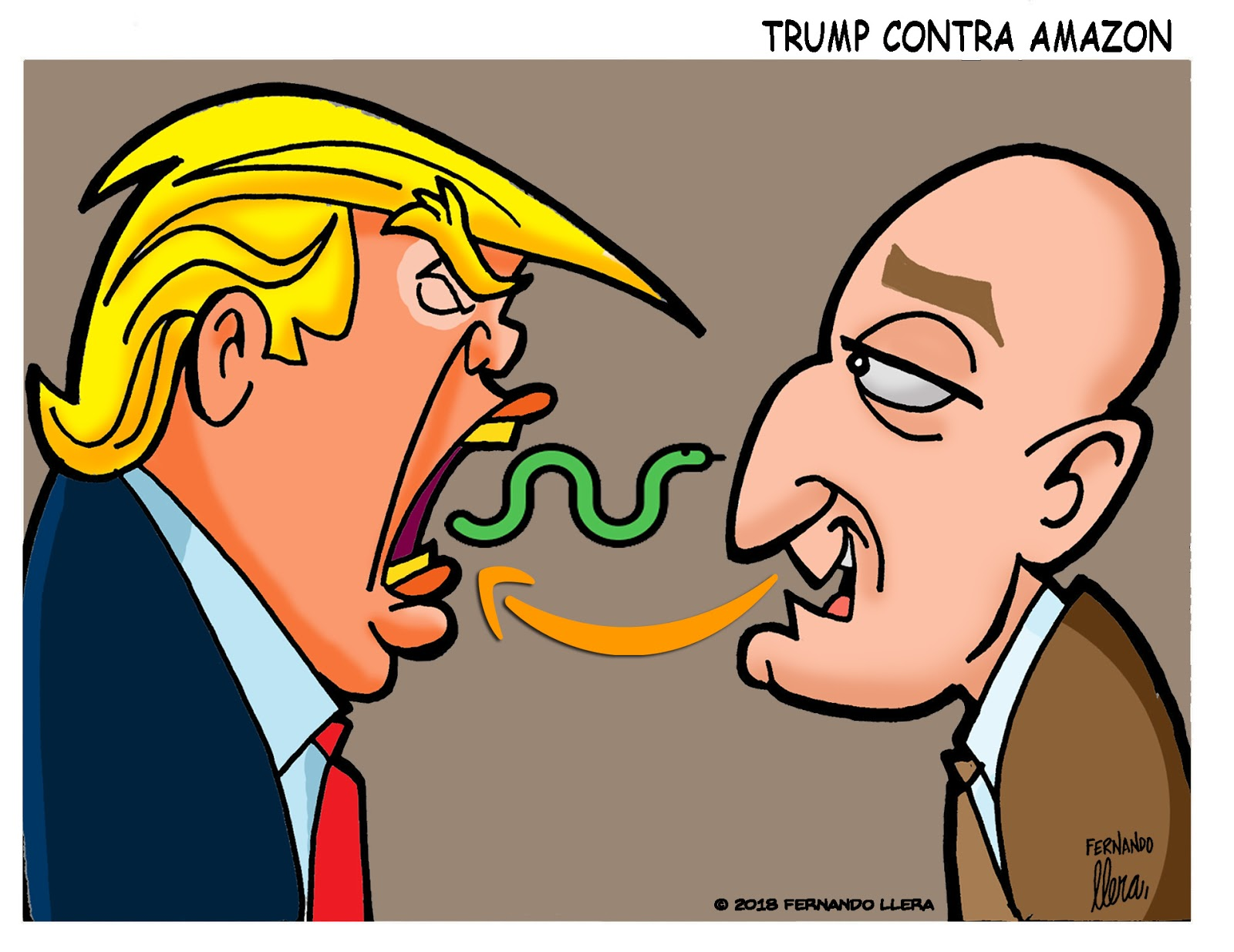 Fernando Llera Blog Cartoons Donald Trump Is Going After Amazon And
