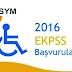 2016 EKPSS Başvuru tarihleri