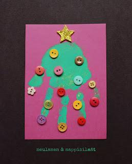 Askartele lapsen kanssa helppo joulukortti